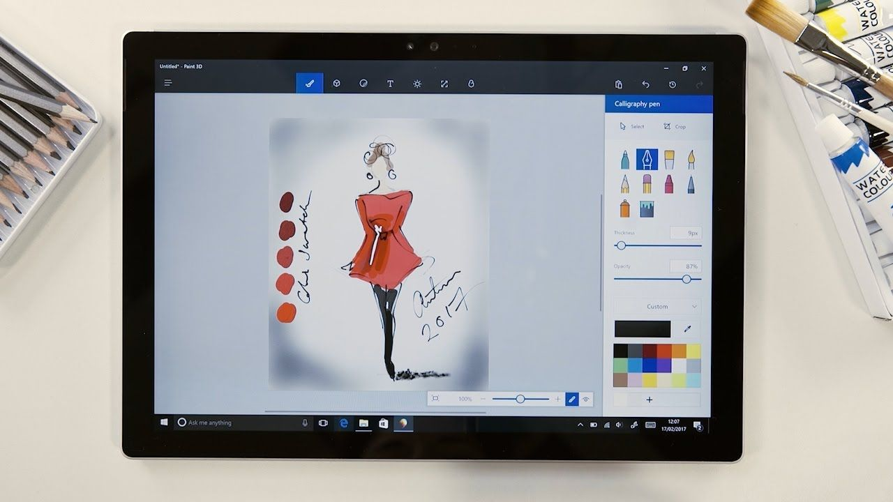 Discover The Art Tools In Paint 3d Microsoft Paint Pc Drawing
