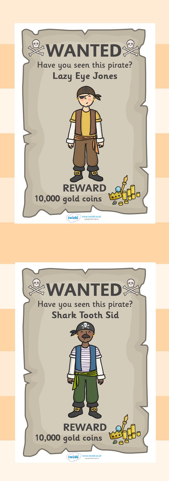 Printable Wanted Posters Entrancing Twinkl Resources  Pirate Wanted Posters  Classroom Printables .