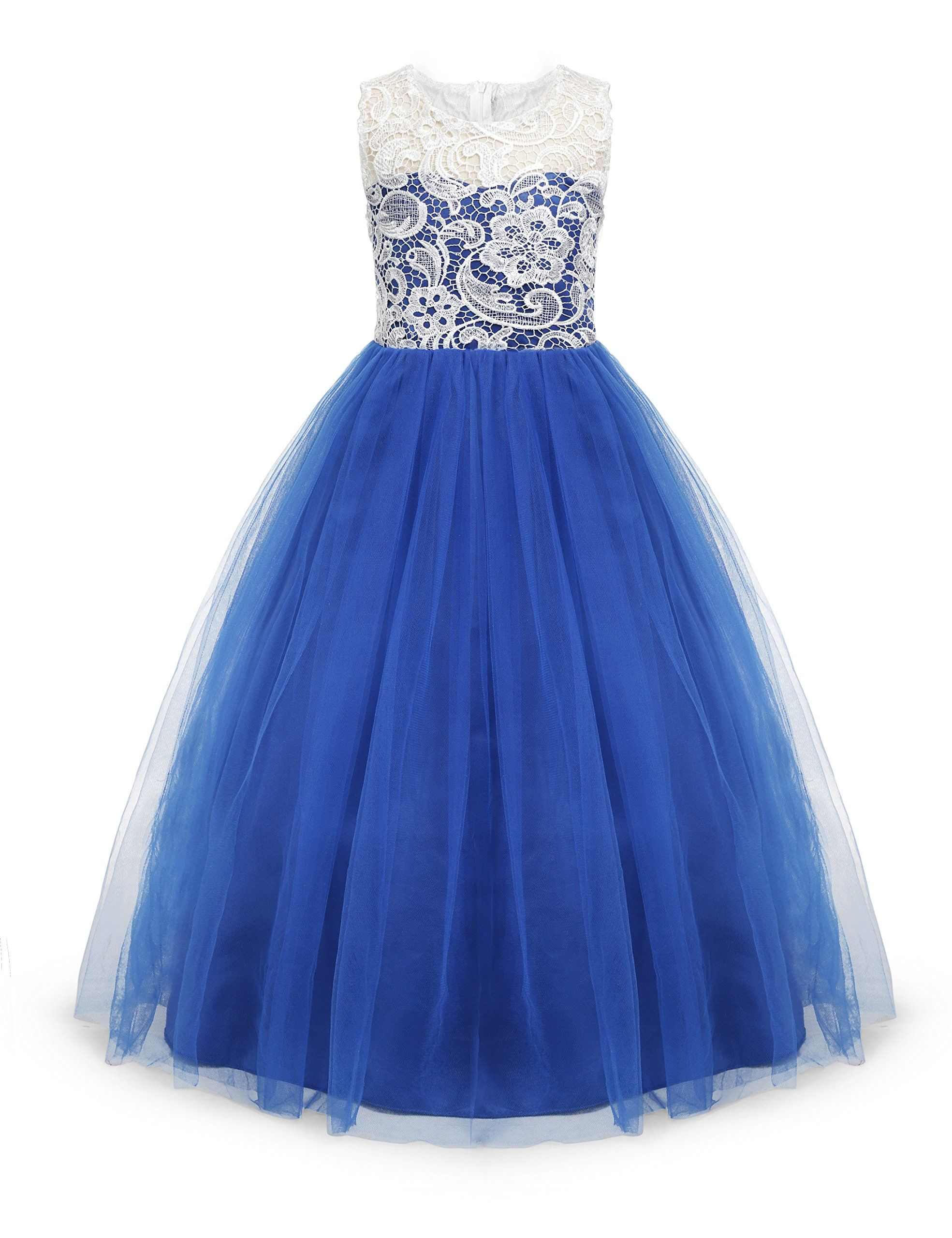 Little Big girls party gown princess lace dress Model 569 (3-4 Years ... 08481710ed26