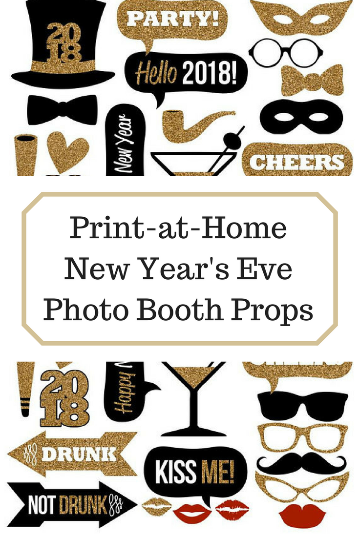 Print at Home Instant Download New Year\'s Eve Photo Booth Props #ad ...
