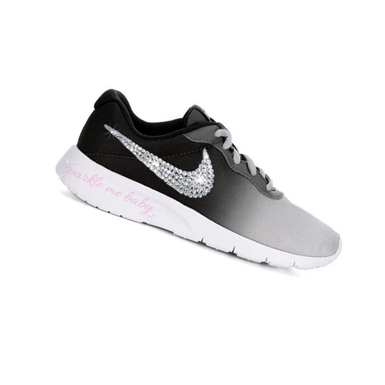 b52c437660c2 Nike Tanjun Grey Ombre ~ Girls ~ Bedazzled Nike ~ Blinged Nikes ~ Rhinestone  Nike - Swarovski Nikes - Custom Nikes - SparkleMeBaby2u by SparkleMeBaby2u  on ...