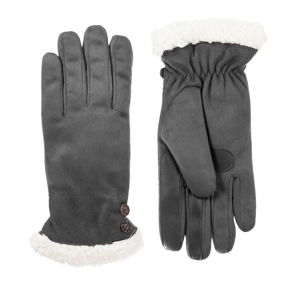 Isotoner Mens Brushed Microfiber Gloves