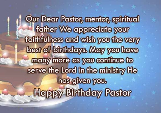 Religious Birthday Wishes For Pastor