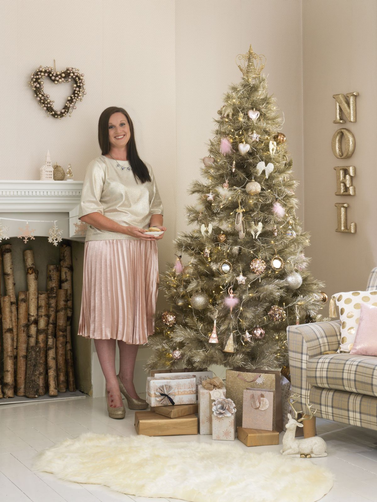 Home at Asda Christmas tree look. To see the full