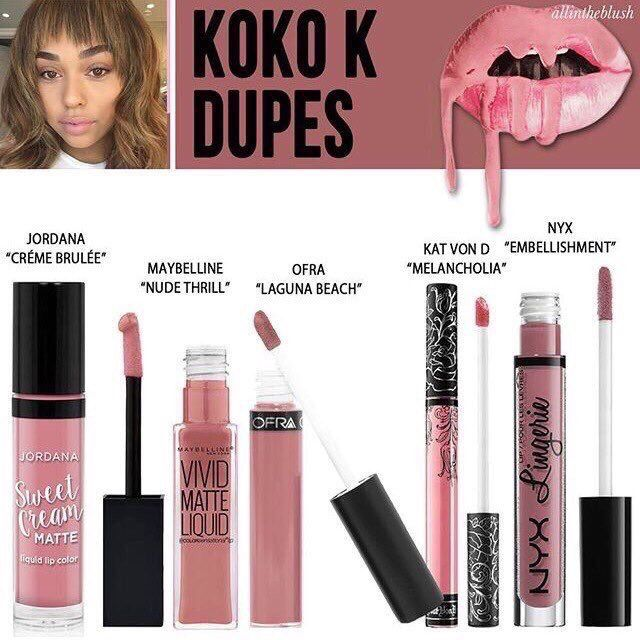 Koko K dupes Jordana Kat Von D and NYX are cruelty free