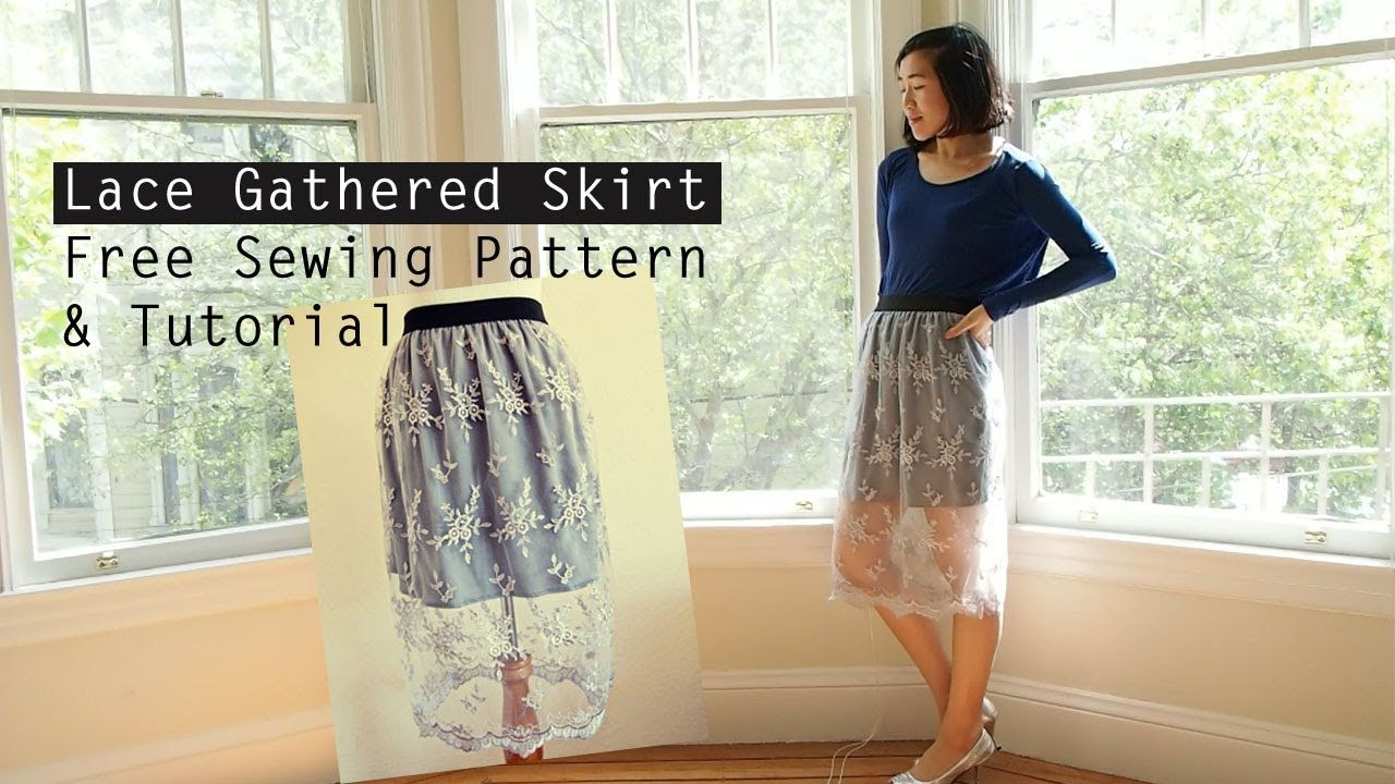 How to Make a Lace Gathered Skirt: Free Sewing Pattern & Tutorial ...