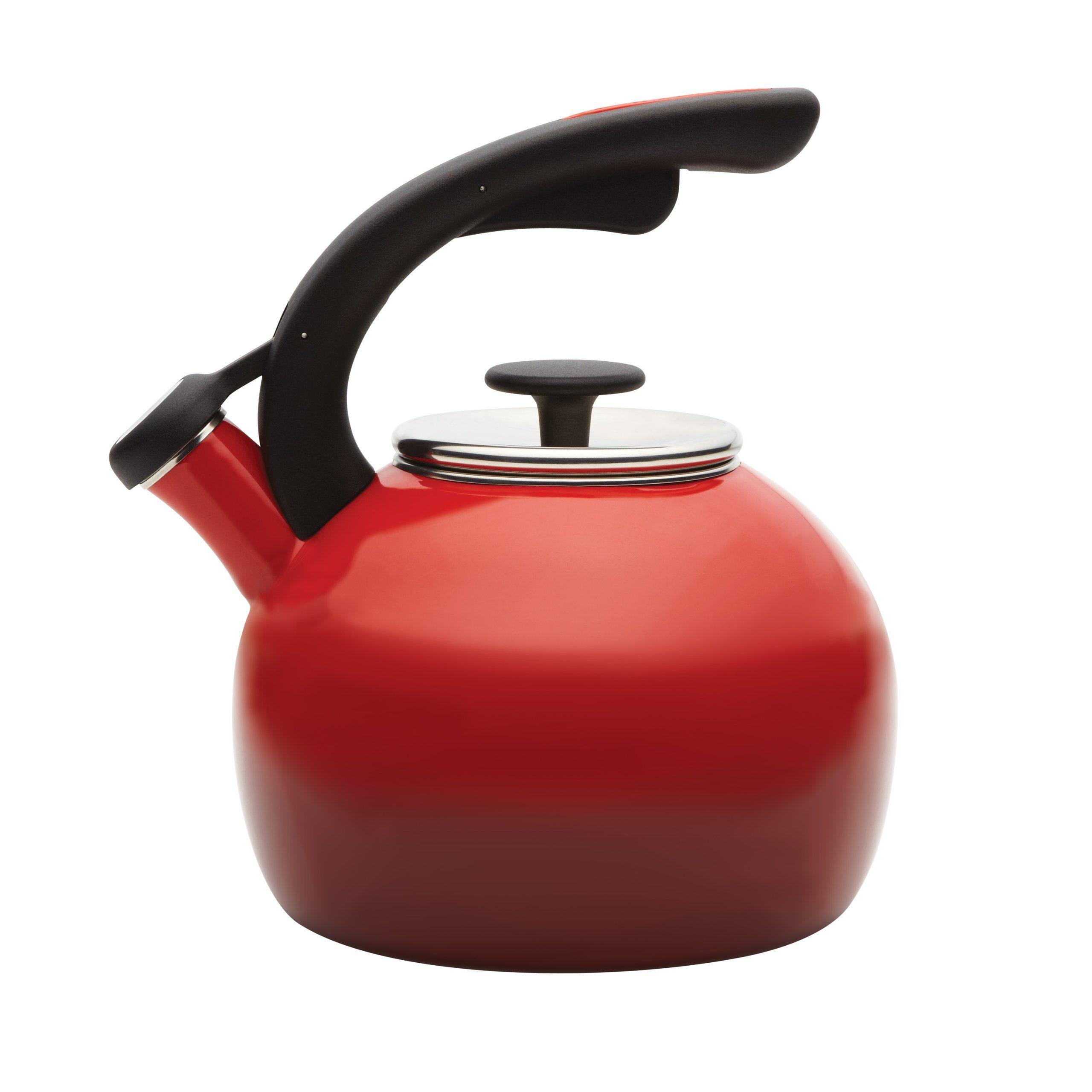 rachael ray teakettles 2 quart crescent kettle gradient red
