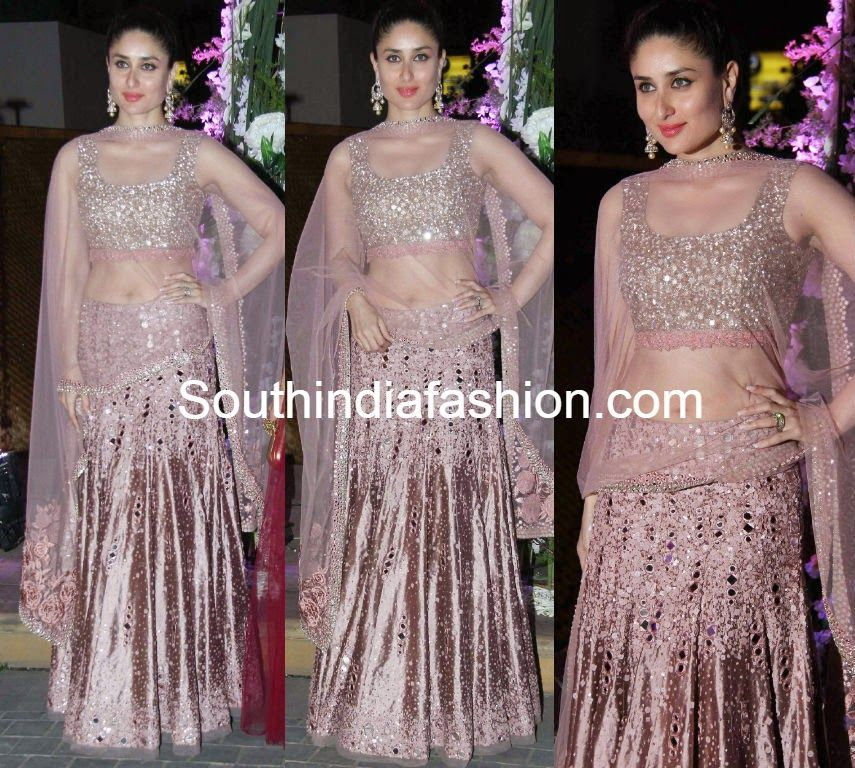 Kareena Kapoor in Mirror Work Lehenga (With images ...