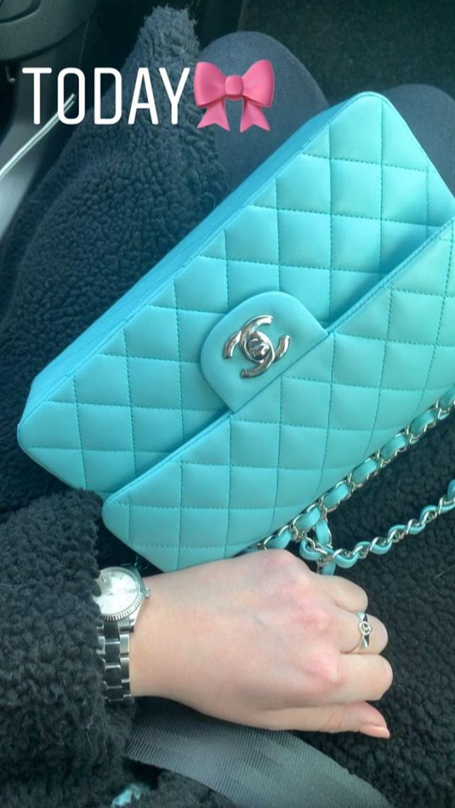 Coach Tiffany Blue Purse Blue Purse Purses Kate Spade Handbags