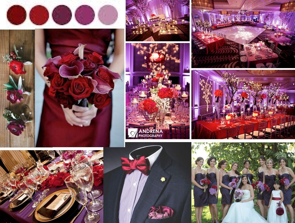 Purple Red Purple Wedding Theme Red Wedding Theme Wedding