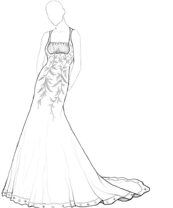 wedding dresses coloring pages Wedding Indexs Pinterest