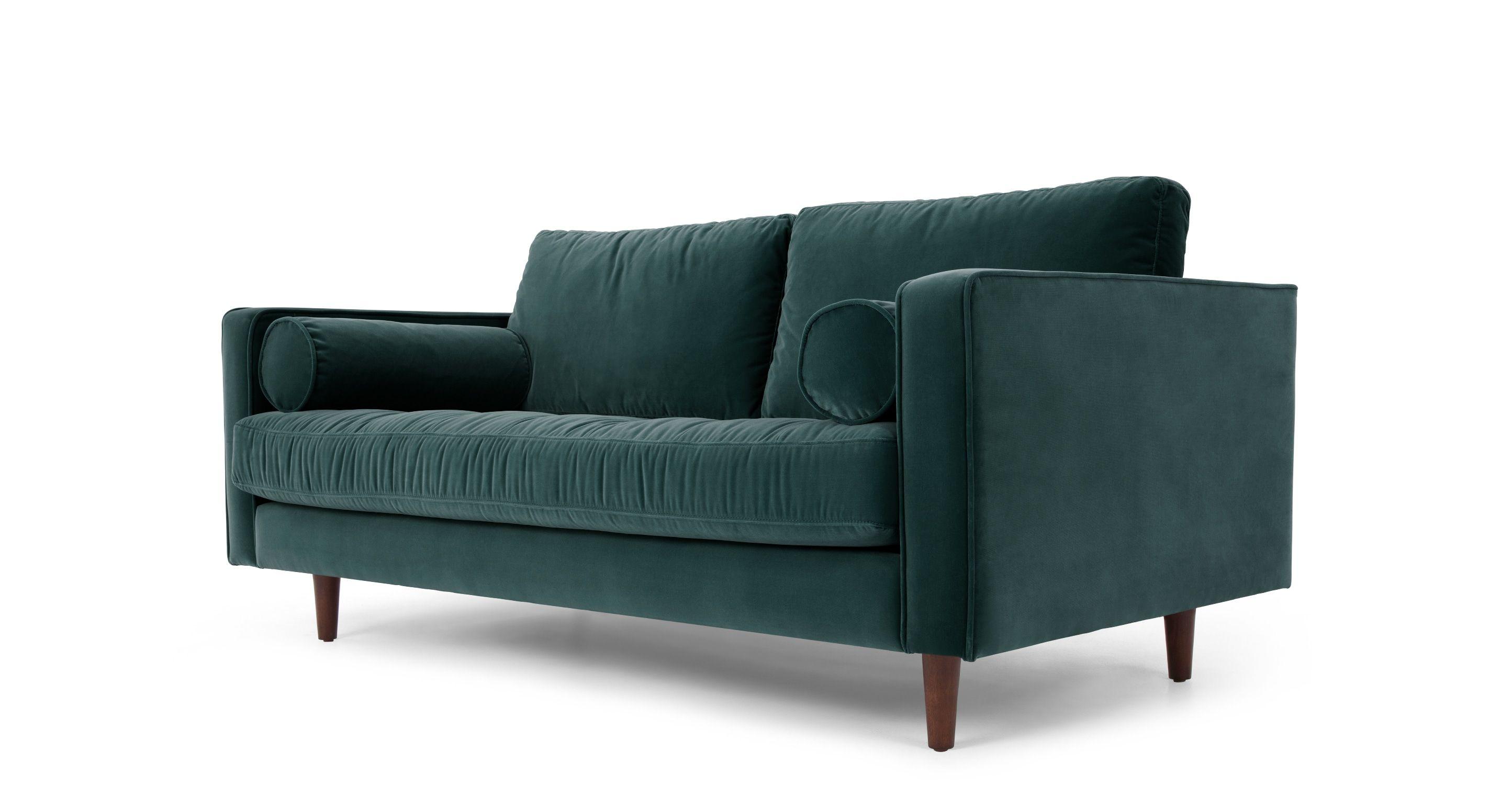 Sofa Samt stylish 2 sitzer sofas breites 2 sitzer sofa samt in