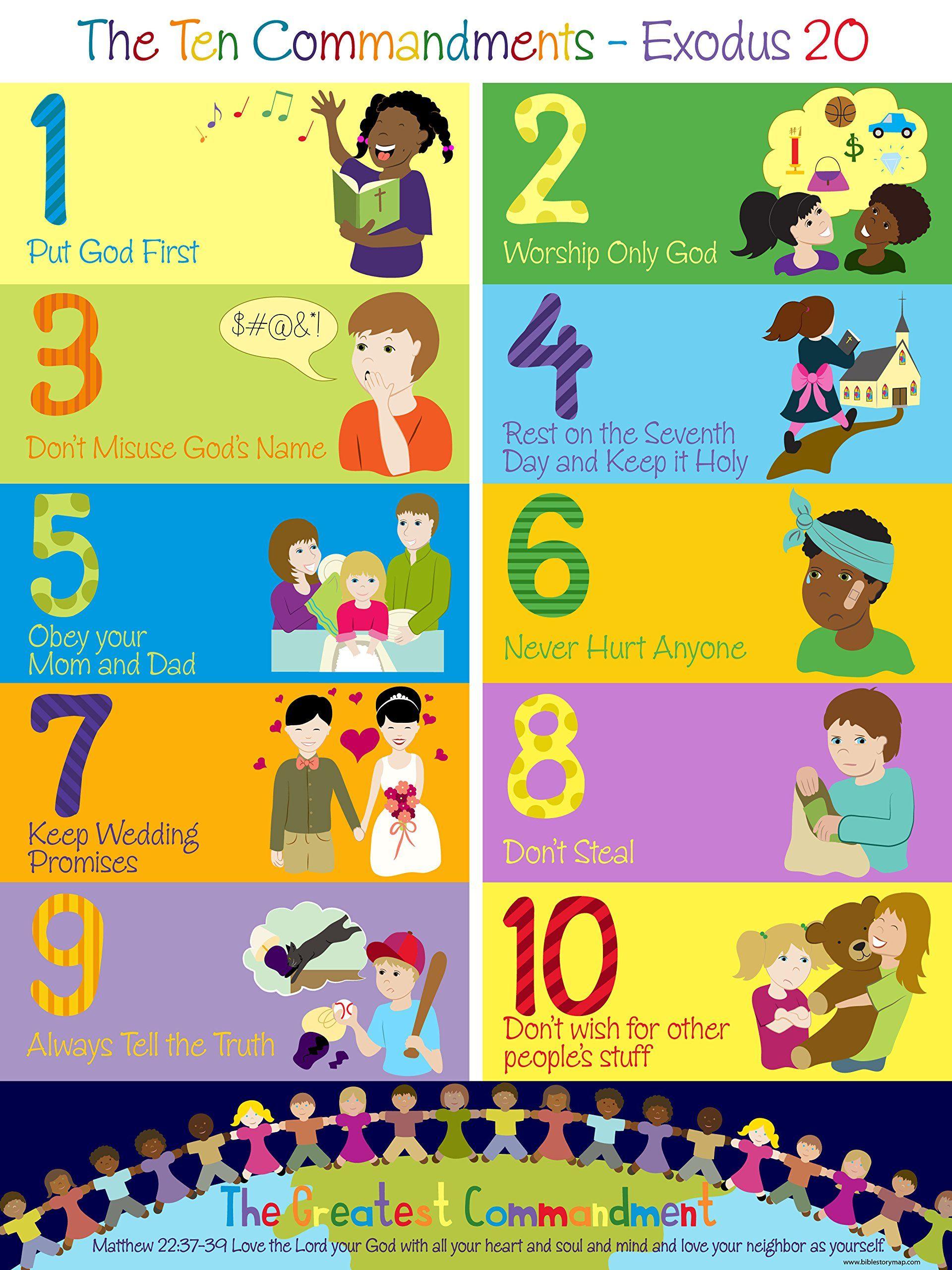 ten commandments crafts for preschoolers