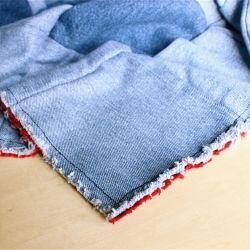 Baby denim rag quilt   35-12 x 43-12