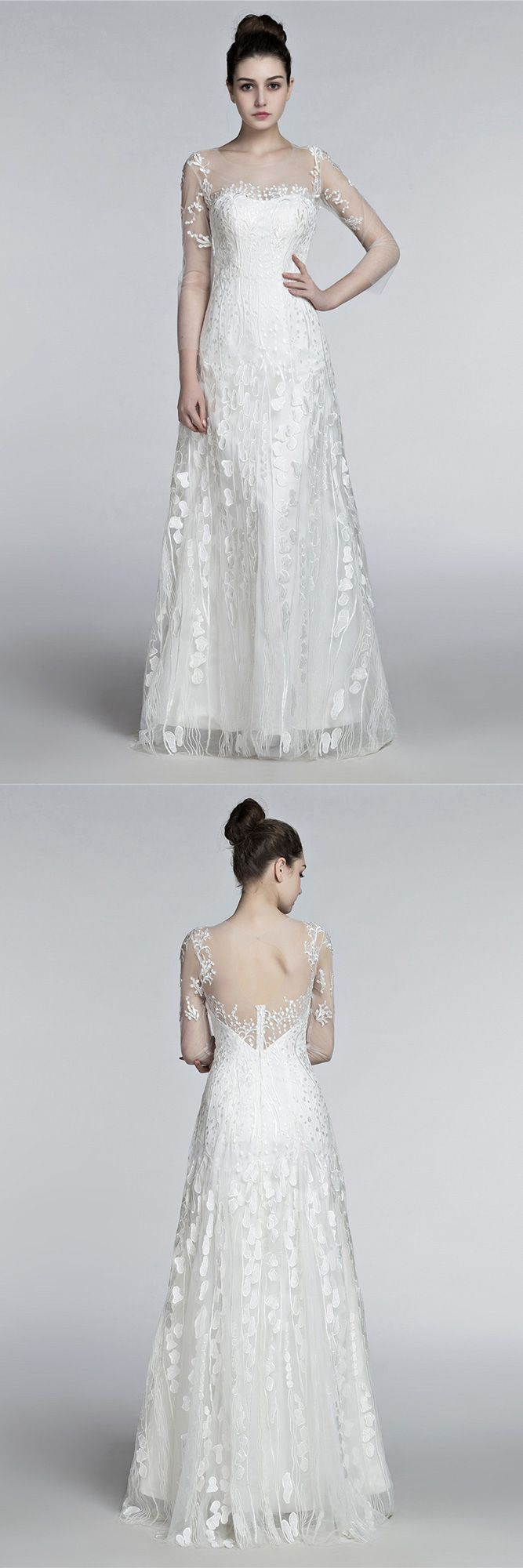 Only beach wedding dresses romantic flowing lace beach