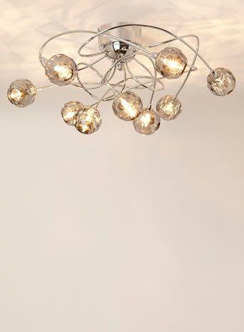 Chrome esme 9 light flush ceiling lights lighting ceiling chrome esme 9 light flush ceiling lights lighting aloadofball Gallery