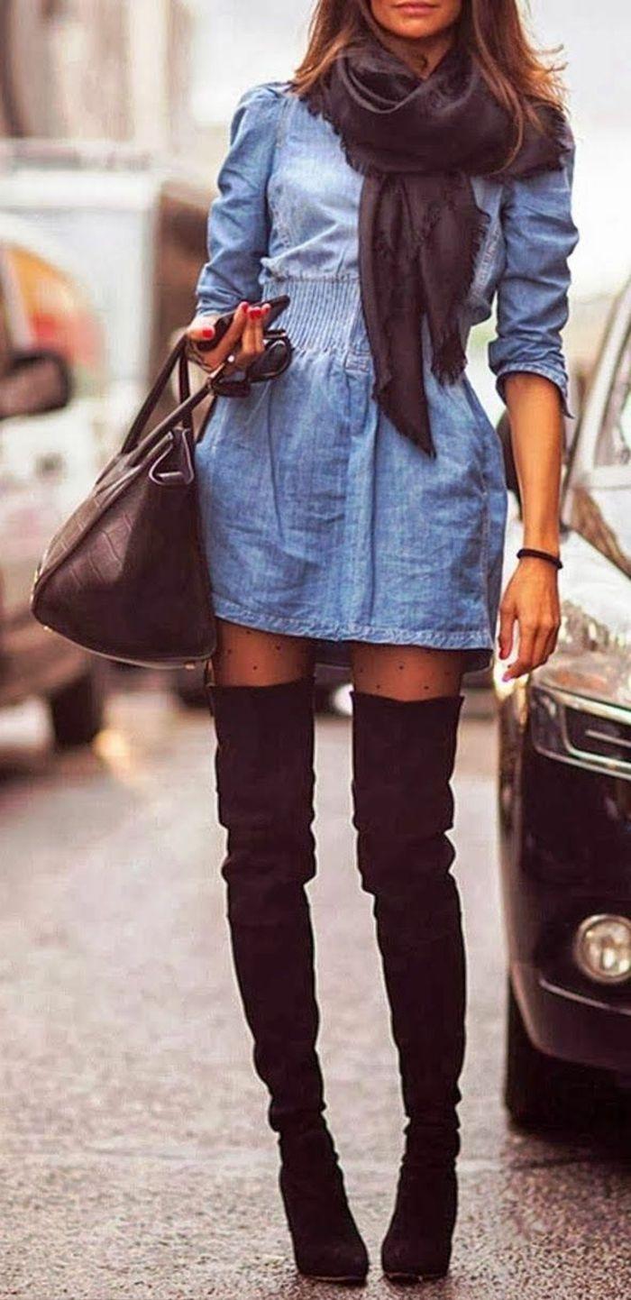 ed306c6bc7b les bottes cavalières noires pour les filles modernes tendances de la mode  pour l hiver 2016