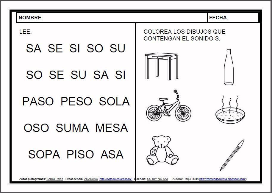 Materiales Fichas De Lectoescritura S Fichas Para El Aprendizaje De La Lectoescritura En Let Teacher Activities Speech And Language Bilingual Education