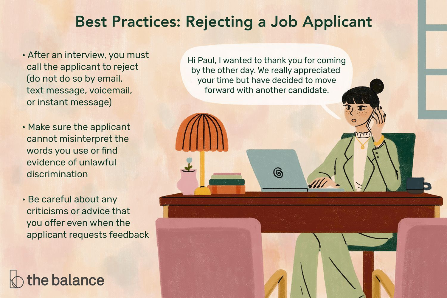 Here Are The Steps Recommended When You Need To Reject Job Applicants At Each Of The Four Steps In Your Recruitment In 2021 Job Application Letter After Interview Job