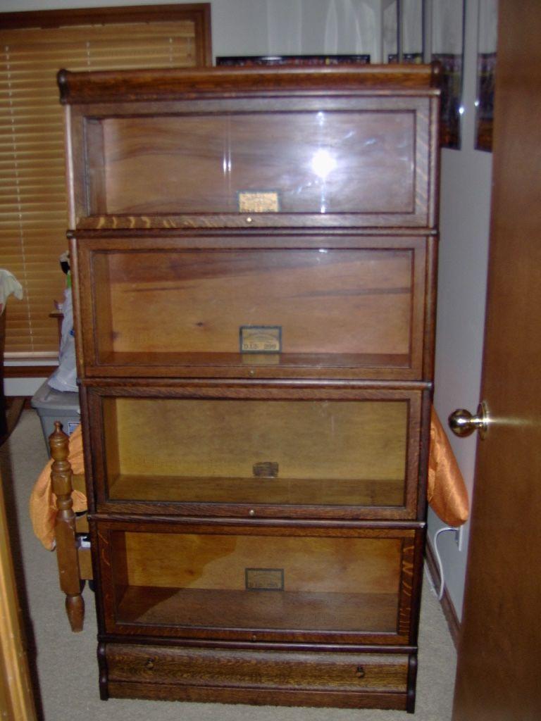 Globe Wernicke 4 Stack Bookcase With Quartersawn Oak Grade 299