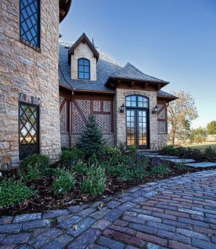 Modern Castle With Incredible Masonry Windows Note The Diamond Panes And Use Of Pavers Windso Luxury Homes Dream Houses Tudor Style Homes Windsor Windows
