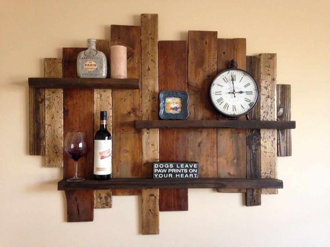 distressed shelf from old wood for the home pinterest holz m bel und rustikale m bel. Black Bedroom Furniture Sets. Home Design Ideas