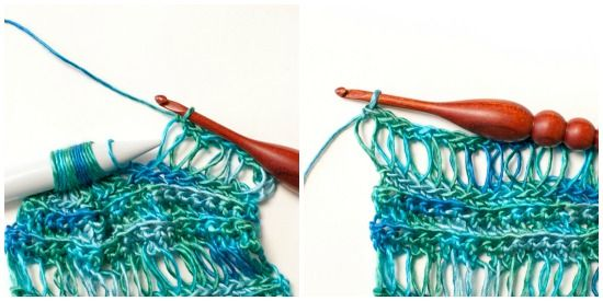 Broomstick Lace Accent Scarf Crochet Pattern Broomstick Lace