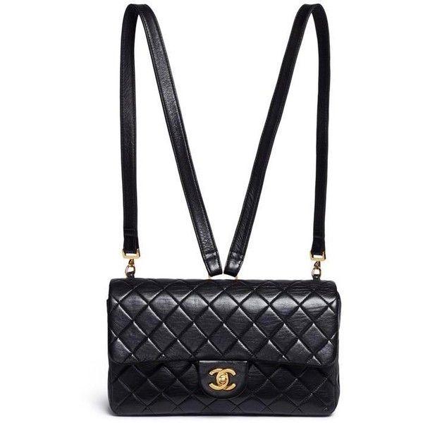 8161e419692c Chanel Black Lamskin Leather backpack Tradesy ( 3