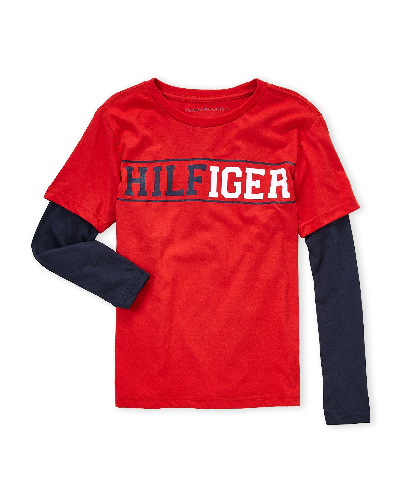801755851806 Tommy Hilfiger (Boys 8-20) Logo Long Sleeve Tee