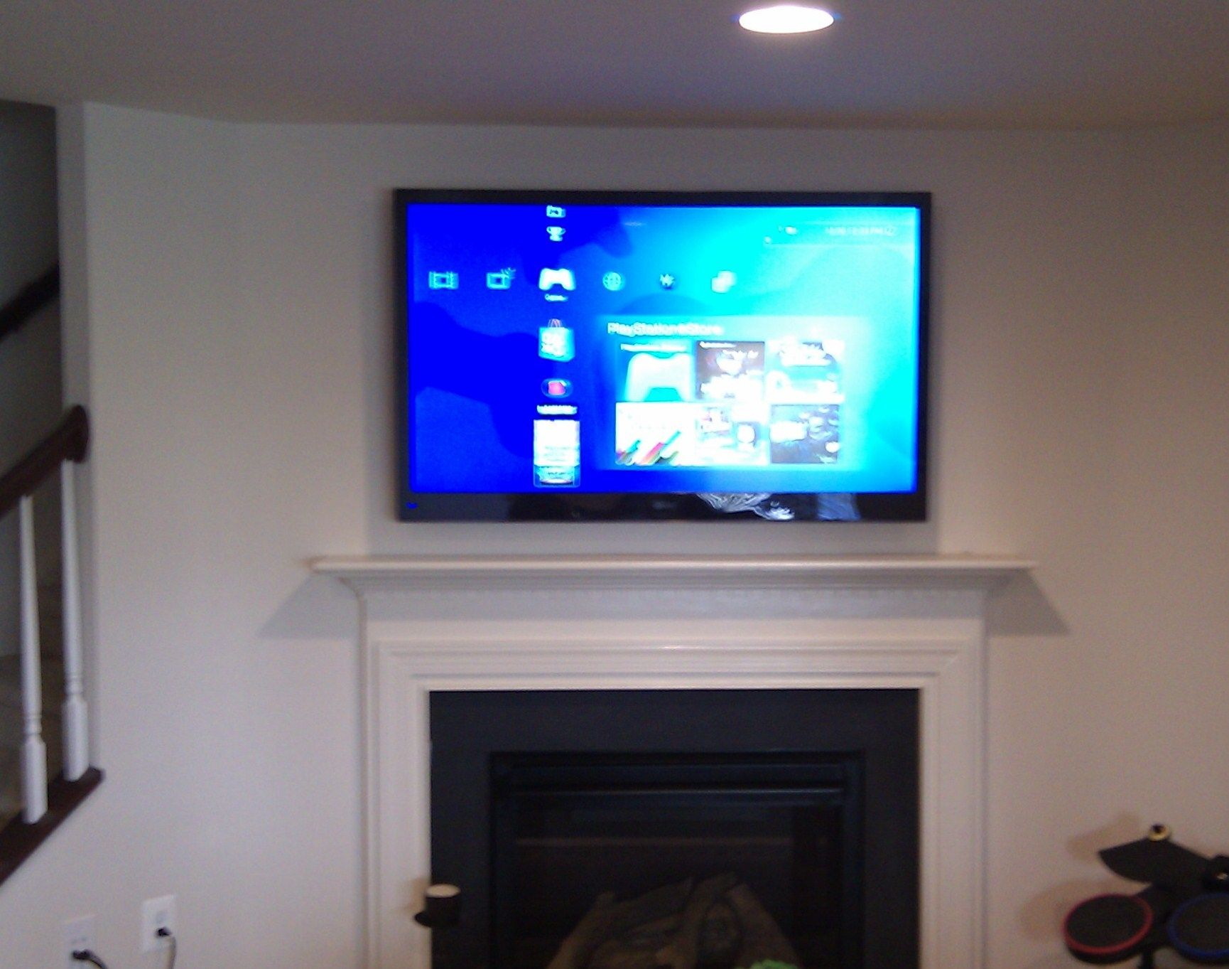 Tv Installation Over A Fireplace With Wires Concealed In The Wall By Flat Screen Above Wiring Mike Philadelphia Pa