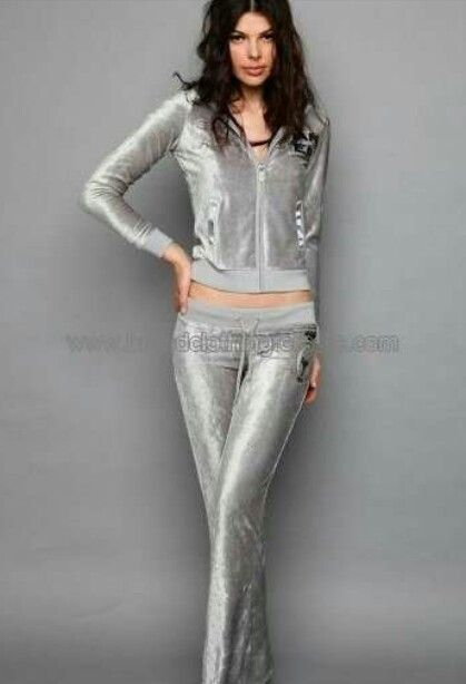 Silver velour suit for women | Velour tracksuits men/women | Pinterest