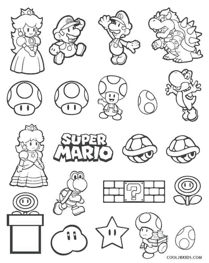 Toad Coloring Pages From Super Mario In 2020