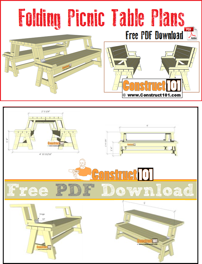 Folding Picnic Table Plans Pdf