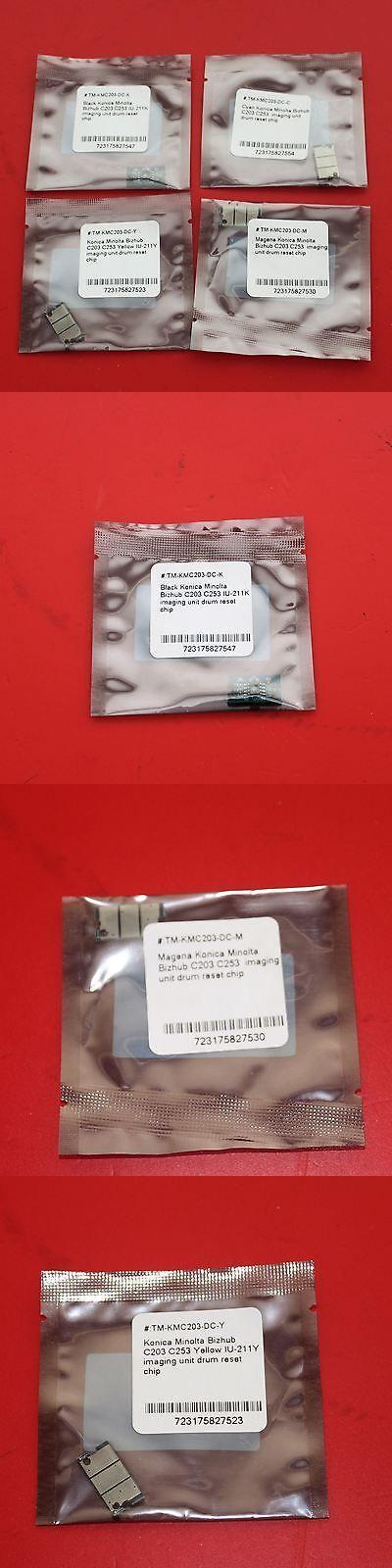 Details About 1 Set 4 Drum Reset Chips For Konica Minolta Bizhub