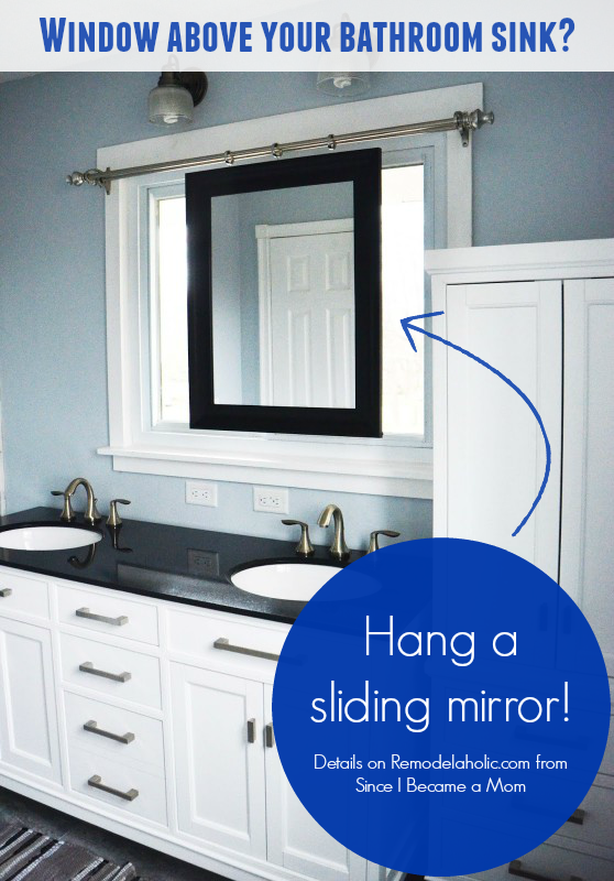 Bathroom Window Repair master bathroom renovation with sliding mirror over the window
