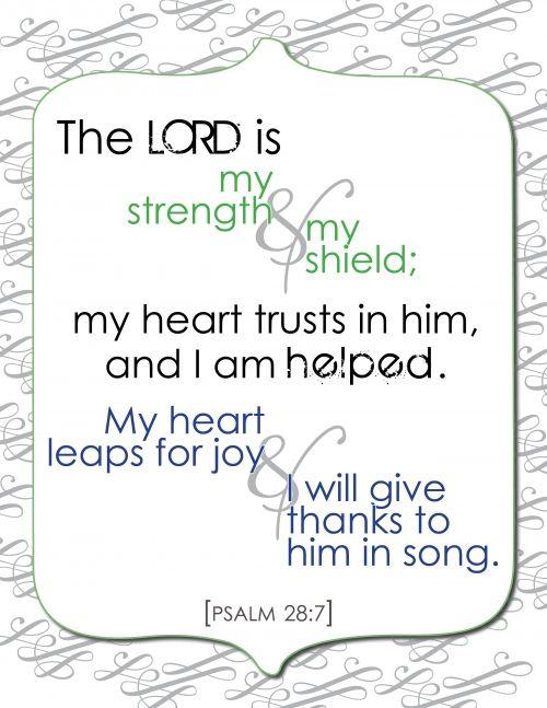 Psalm 28:7 - rejoice