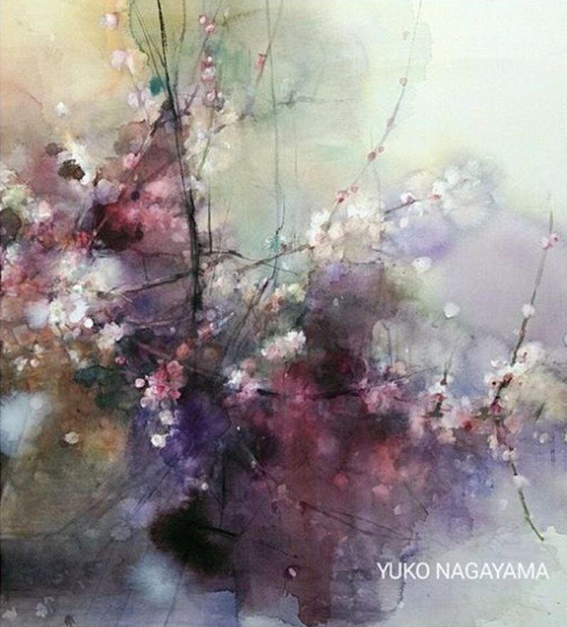 Yuko Nagayama Watercolor Paintings Watercolor Art Painting