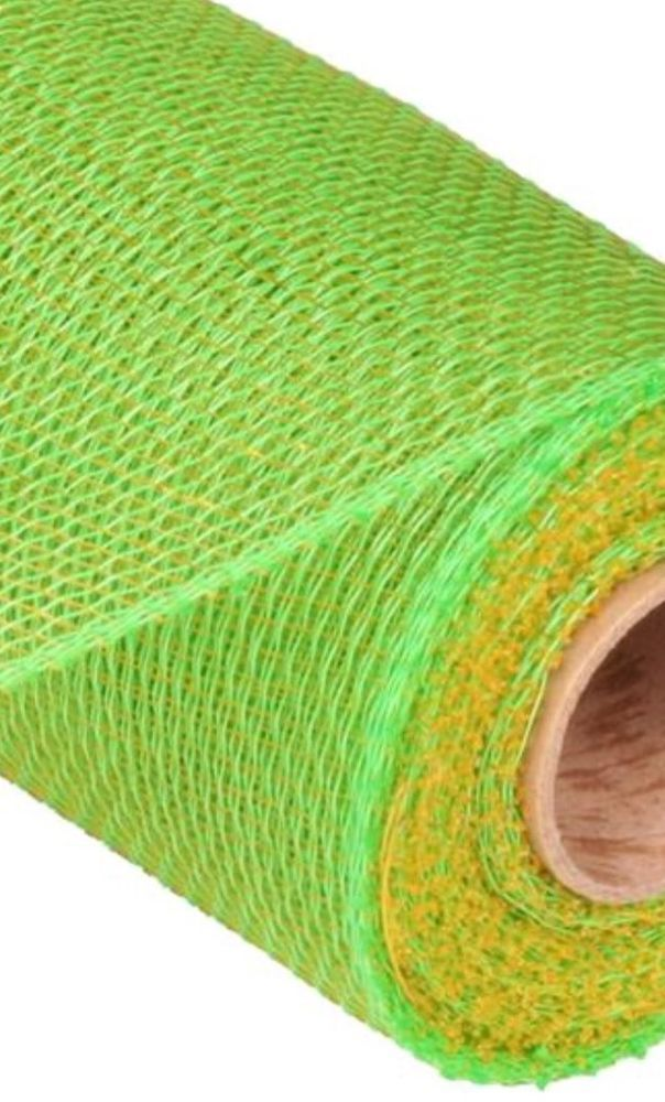 21 X 10 Yd Two Tone Lime Gold Deco Mesh Wreaths Deco Mesh Wreaths Mesh Wreaths Deco Mesh