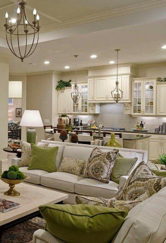 Green accents living room decor kitchen rooms neutral also best furniture and decoratives images house decorations diy rh pinterest