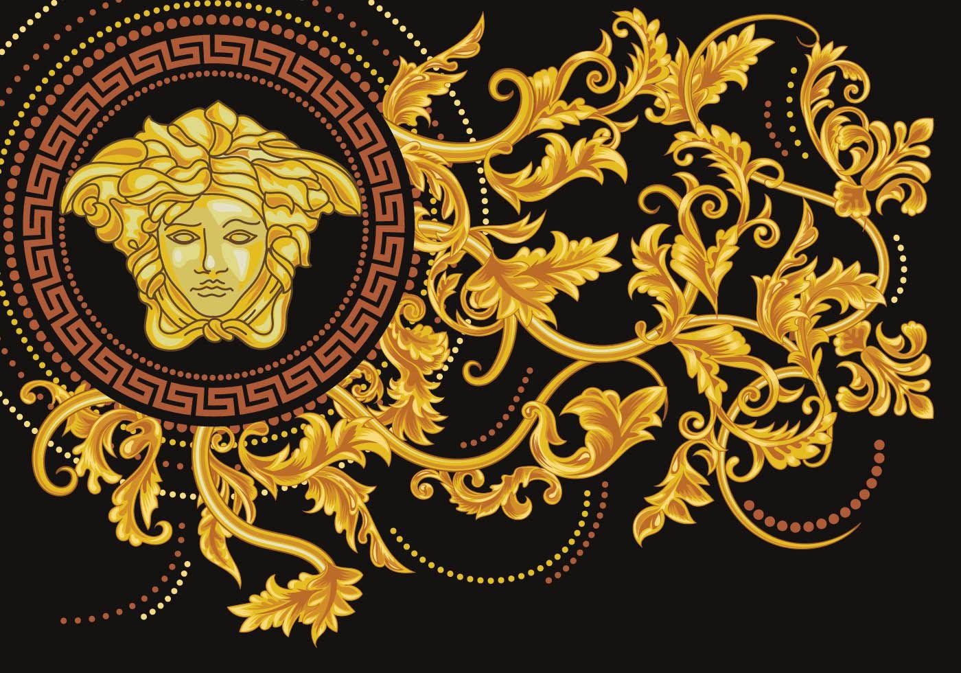 Asymmetrical Versace Medusa Vector Рисунки