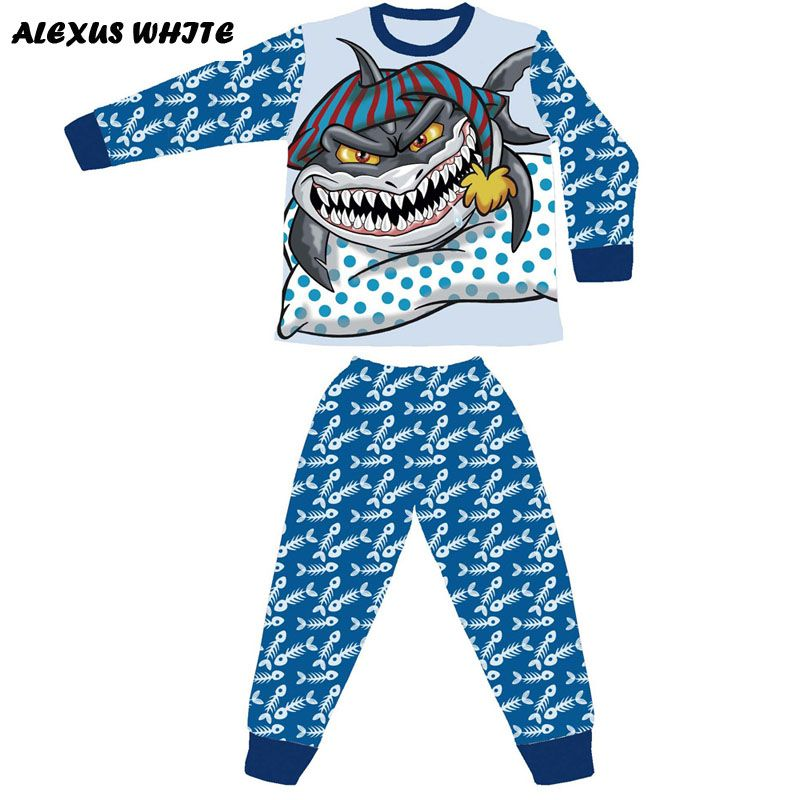 click to buy << boys shark pyjamas % cotton baby pijamas kids  click to buy << boys shark pyjamas 100% cotton baby pijamas kids >>
