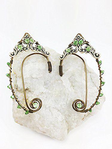 Amazon.com: Elven Ear Cuffs Bronze GOLD Filigree, Fairy Ear Cuffs, Cosplay Elf Ear Cuffs, Fantasy Costume Ear Cuffs: Clothing