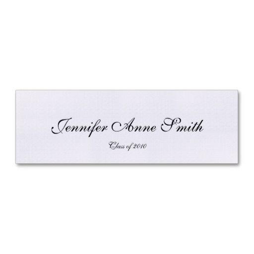 Graduation Name Card English Presto Font Business Card Template Cards Display Cards Name Cards