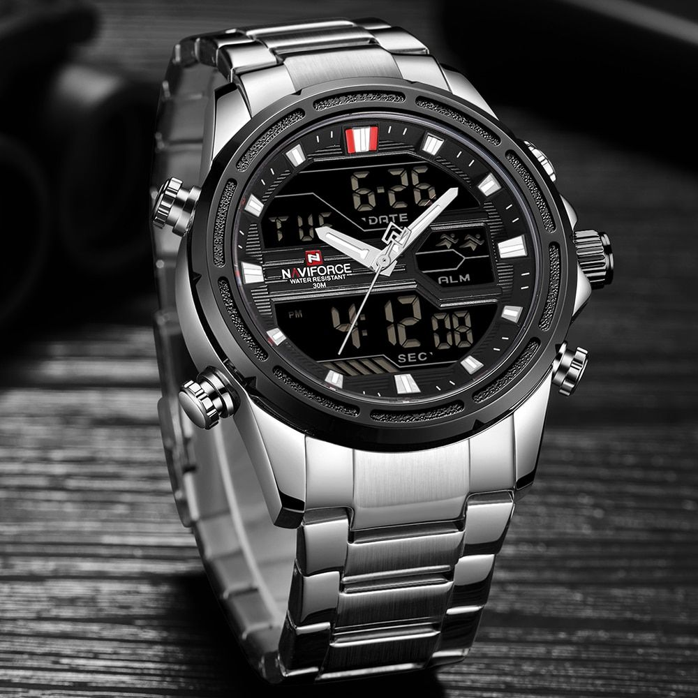 New Watches Men Luxury Top Brand Naviforce Led Men Sports Watches