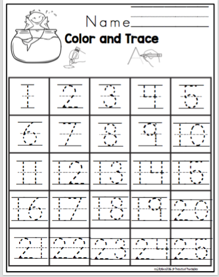 2.png (446×564) Kindergarten Worksheets, Number Tracing, Preschool  Printables