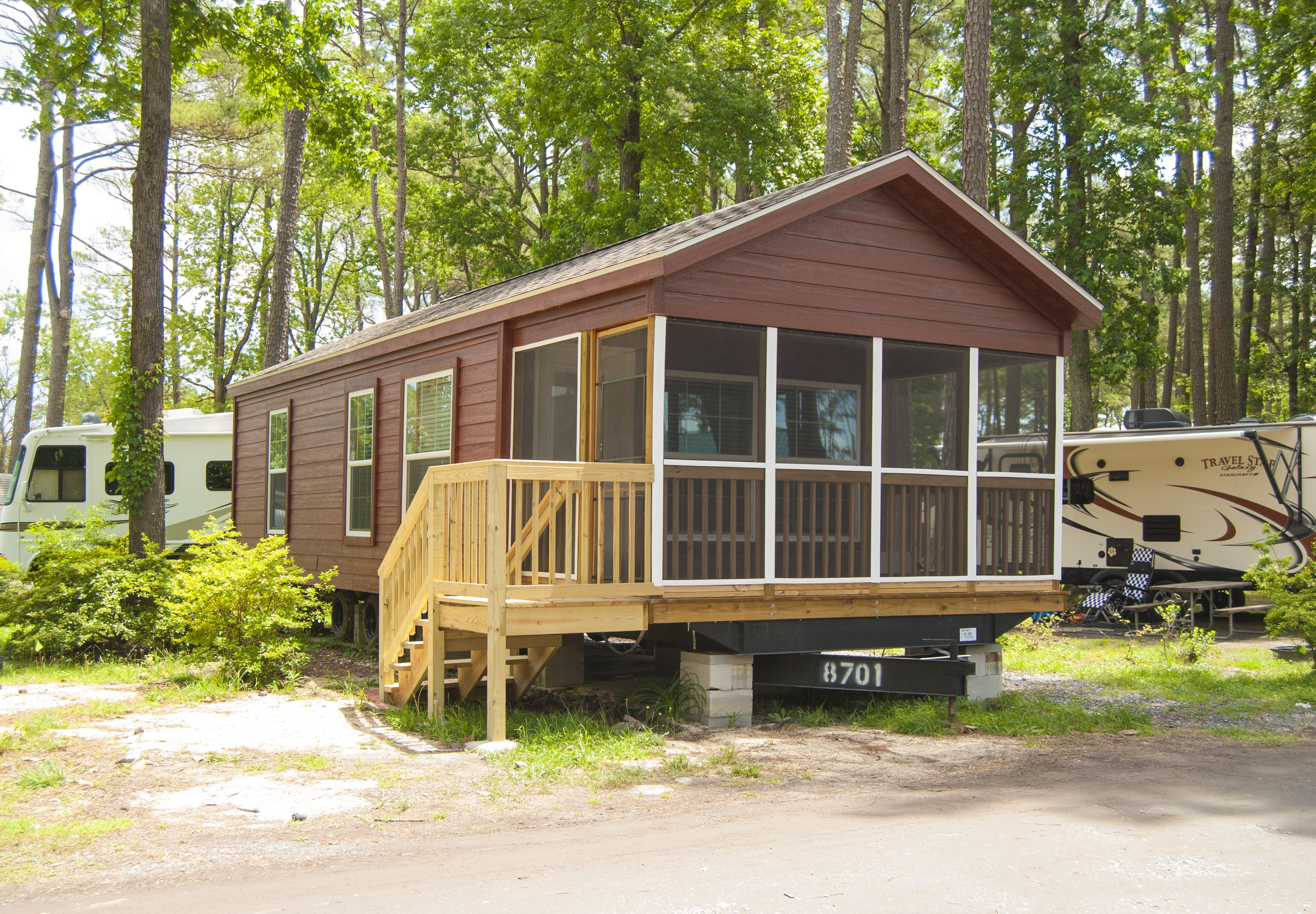 Deluxe park model cabin deluxe park model cabins for Cooper s cabin park city