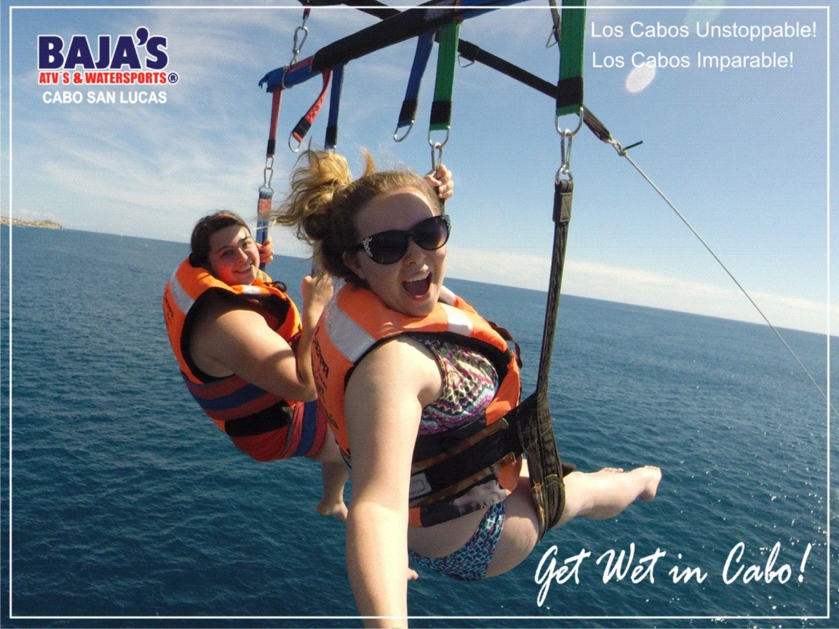 Enjoy Parasailing in #LosCabos Unstoppable! Disfruta el Paracaídas en #LosCabos Imparable!   #Bajaswatersports #Watersports