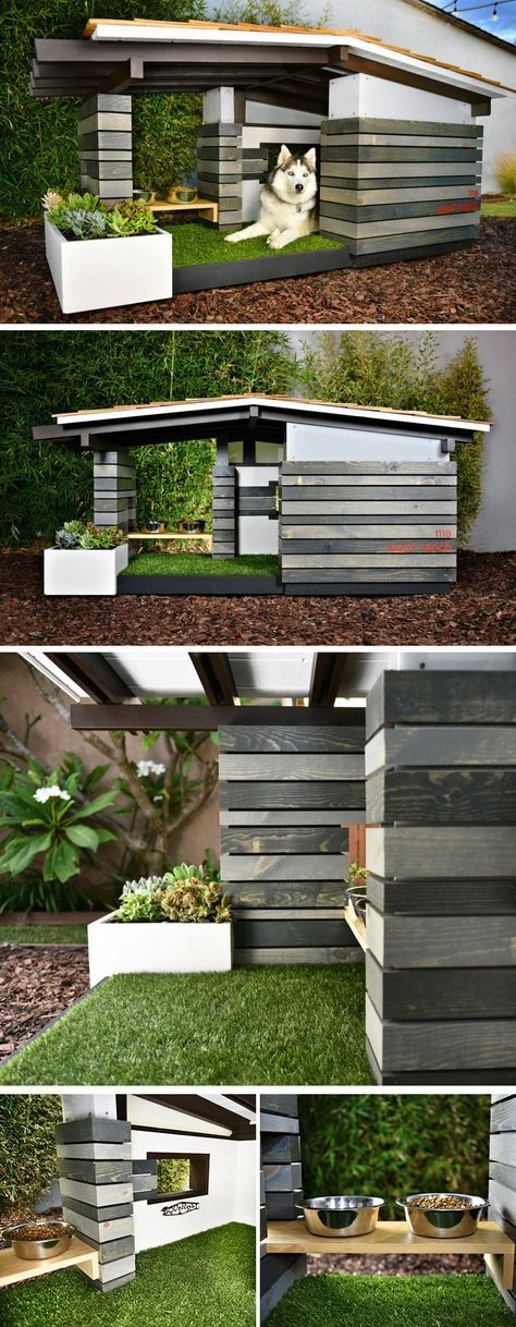 These Modern Dog Houses Are Adorably Stylish #sideporch