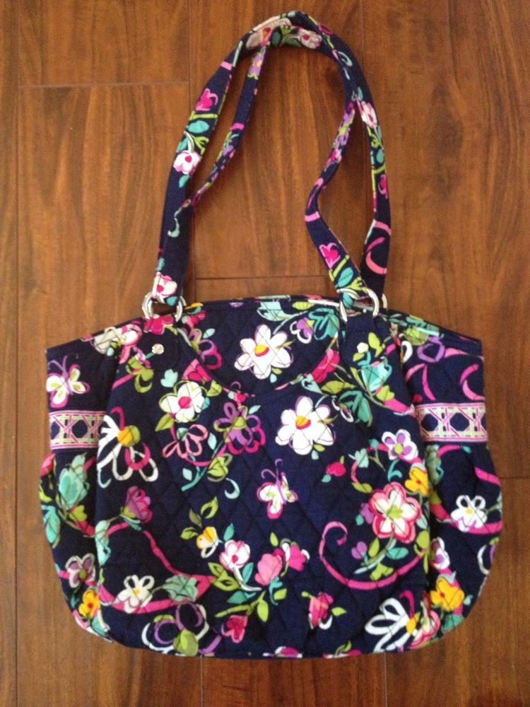 Vera Bradley Glenna Ribbons Purse Breast Cancer Pattern