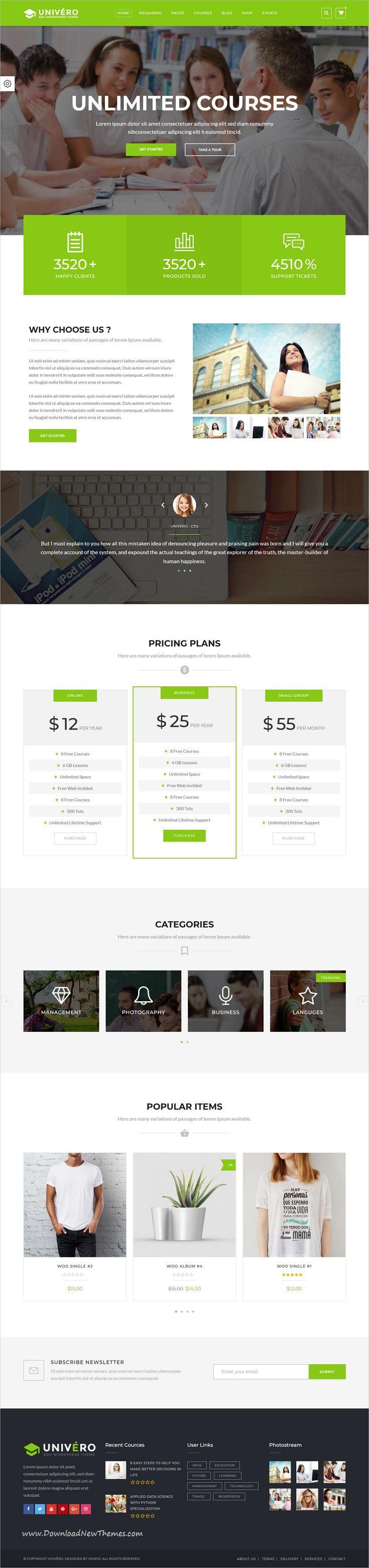 Univero Is Clean And Modern Design 10in1 Responsive Wordpresstheme